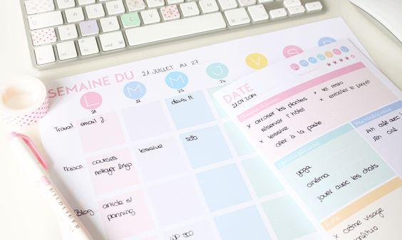 {A télécharger} 2 plannings pastel pour planifier votre semaine/journée