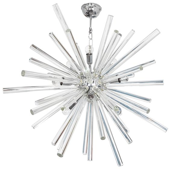 """Bakalowits & Söhne  Spectacular """"Starburst"""" chandelier c. 1970's 