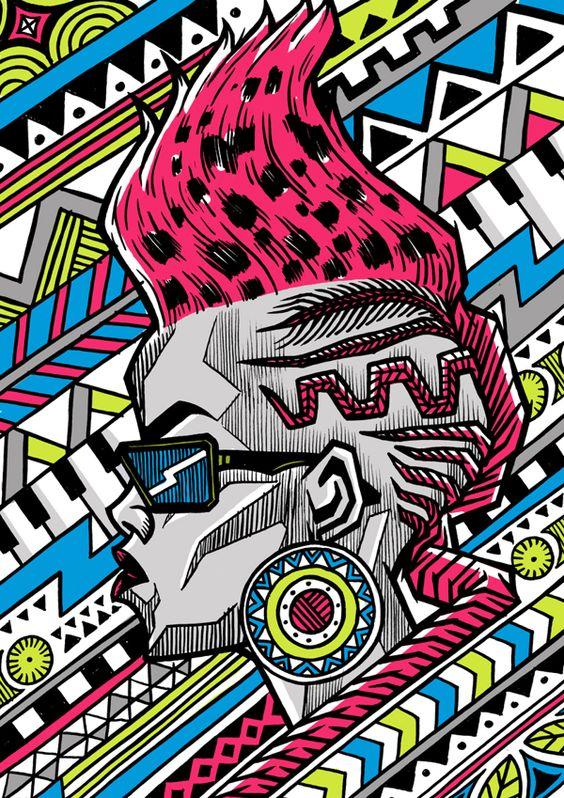 Zulu Diva by sindiso nyoni, via Behance