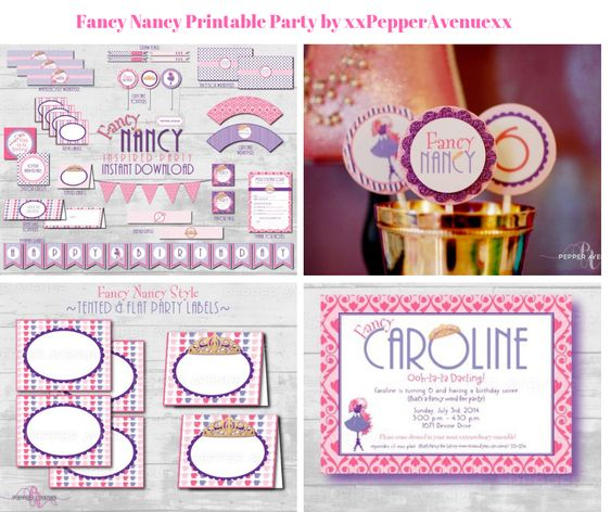 Fancy Nancy Printable Party by xxPepperAvenuexx