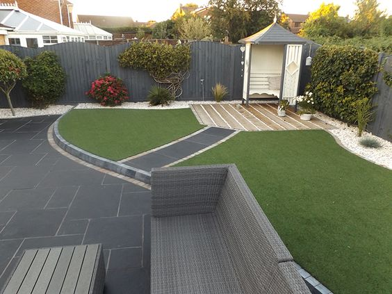 Carbon Black Limestone Flagstones | Modern Patio | Landscaping | #Garden  #Design | Seating | | Decol Construction Ltd | LoveGarden | Pinterest |  Gardens, ...