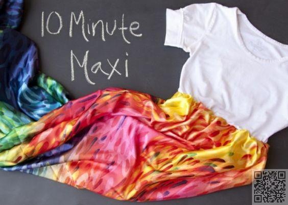 10. Tee Maxi - 10 #Summer Perfect DIY Maxi #Dresses ... → #Lifestyle #Ruching