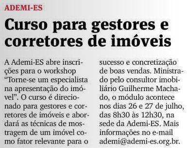 Jornal A Gazeta 15/07/2012 - Caderno de Oportunidades