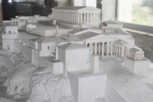 Model Of The Athenian Acropolis Acropolis History Encyclopedia