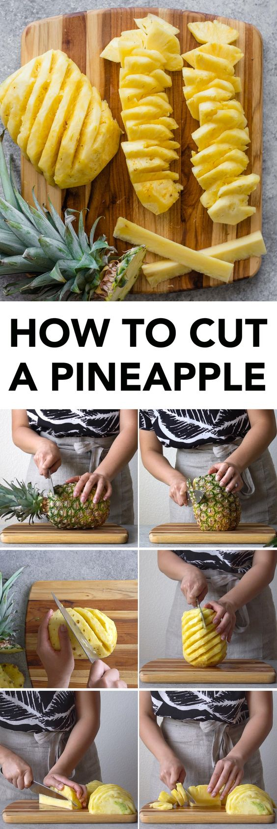 How to cut a pineapple: a step-by-step tutorial + video!