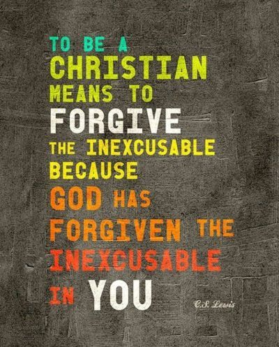 "great reminder...i need to forgive  ""inexcusables"" instead of allowing them to anger me."