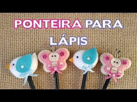 Lembrancinha Ponteira para Lápis Passo a Passo - DIY Passarinho e Borboleta - YouTube