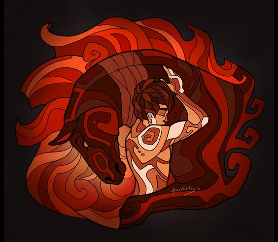 Fire Red Horse by Turtle-Arts on @DeviantArt