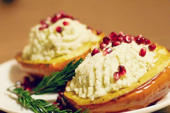 ... pomegranate seeds garlic cauliflower mash squashes acorn squash seeds