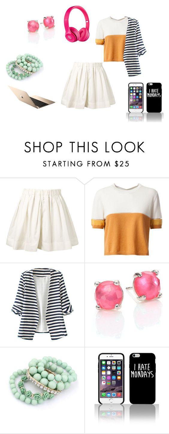 """""""Music"""" by fridapolyvore04 ❤ liked on Polyvore featuring Marc Jacobs, Fendi, WithChic, Ippolita, Ruby Rocks and Apple"""