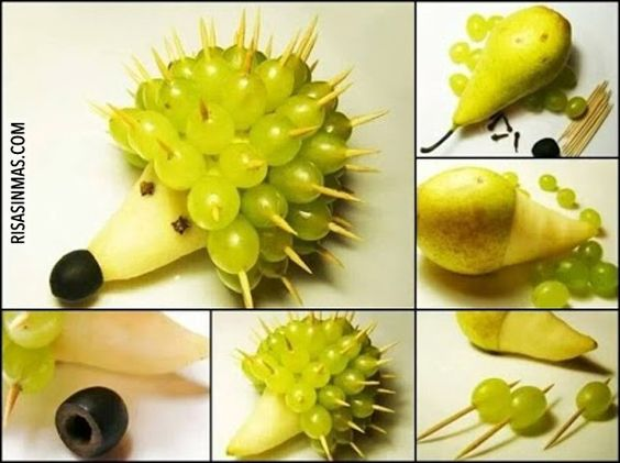 Comidas divertidas: Erizo de fruta