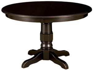 "Amish Outlet Store : 42"" Round Preston Table in Oak"