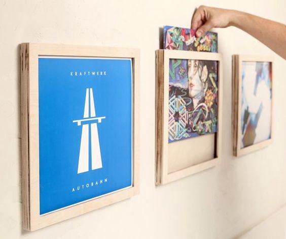 white Show /& Listen Vinyl Display Frame Budget Version of Art Vinyl Frame