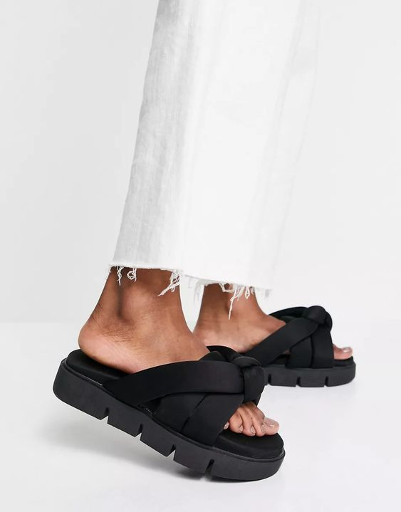 Fascinated Chunky Padded Mules, now £17.50, ASOS