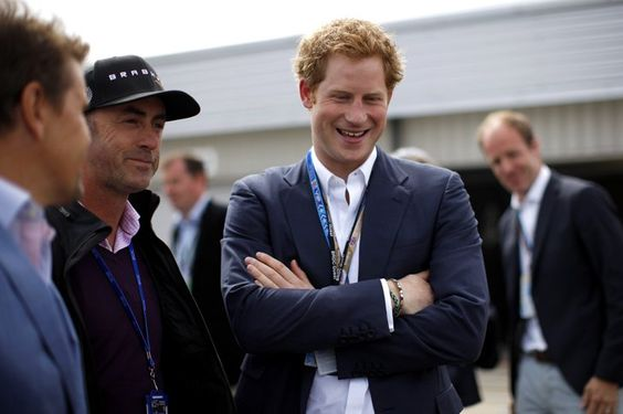 Pin for Later: This Week's Can't-Miss-Them Celebrity Photos  Prince Harry chatted at the F1 Grand Prix of Great Britain at Silverstone Circuit in Northamptonshire.