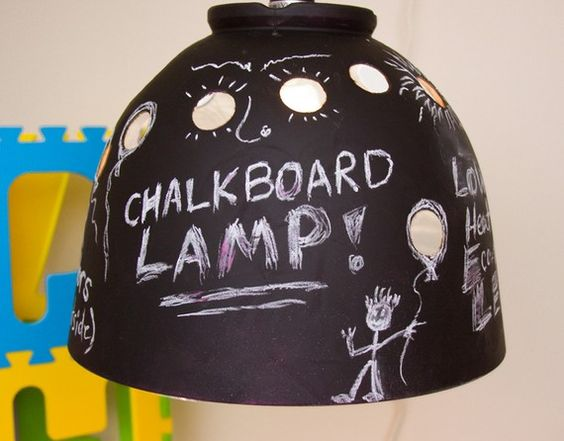 Chalkboard lamp!