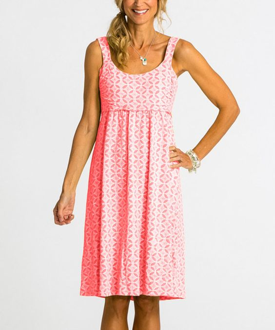 Look at this Red Coral Circle Coast Impromptu Dress on #zulily today!