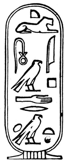 cleopatra's name in Hieroglyphs : Cartouche of Cleopatra