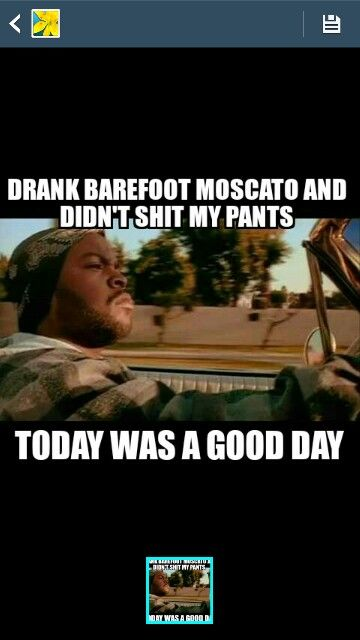 Barefoot moscato....
