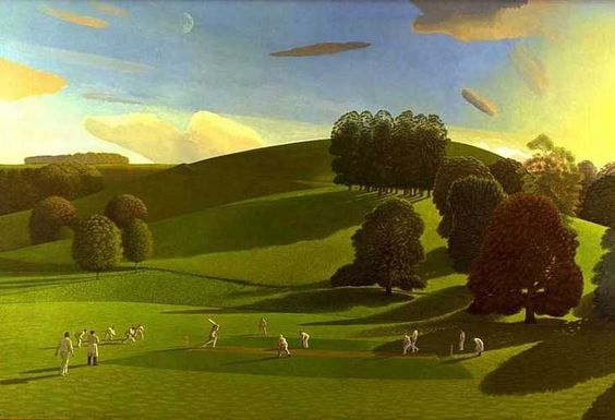 Valley of Vision: The Cricket Game by David Inshaw