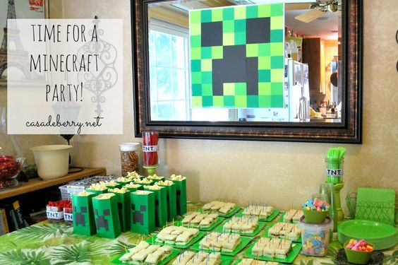 Minecraft Party, part 1 | Casa de Berry