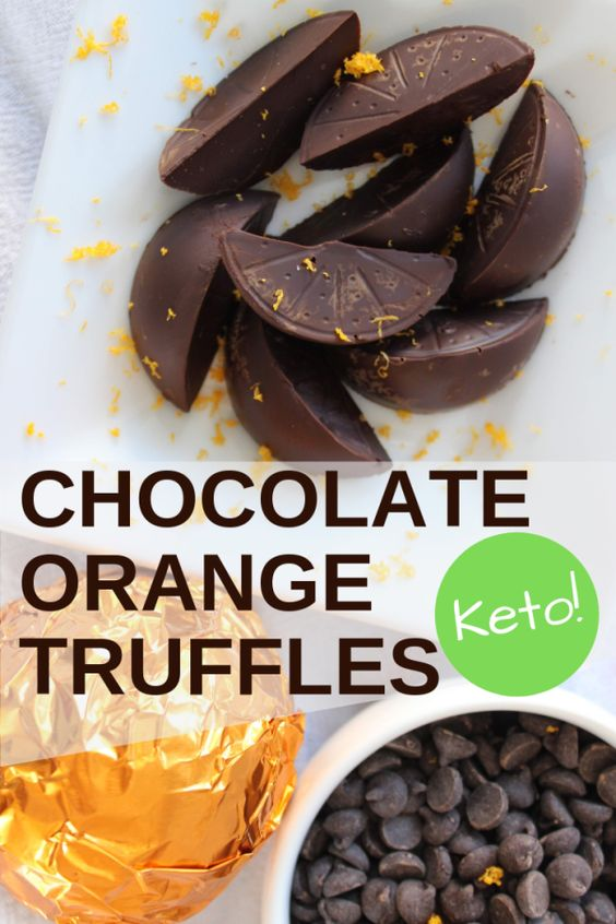 Creamy chocolate orange ganache covered with dark chocolate. These Keto chocolate orange truffles are just like Terry's chocolate Christmas oranges sold in stores around the holidays. Once you try a FRESH keto chocolate truffle, you'll never go back! Keen for Keto | keto candy | keto chocolate | keto dessert | keto Christmas candy | keto stocking stuffer