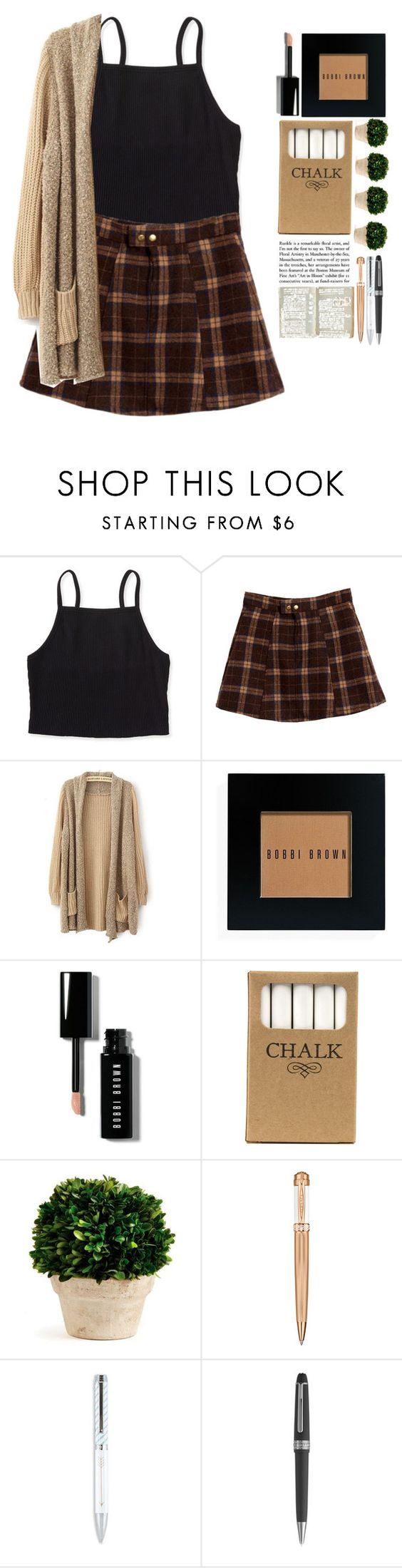 """6:35 am Friday, September 23"" by woah-its-me ❤ liked on Polyvore featuring Aéropostale, Bobbi Brown Cosmetics, Jayson Home, Napa Home & Garden, Versace and Montblanc"