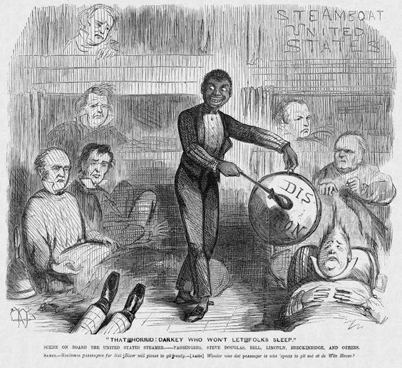 How did the issue of slavery affect the American view of the world and lead to disunion?