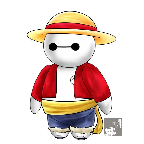 #CosplayerBaymax: Baymax Reimagined as Popular Anime Characters - Monkey D. Luffy