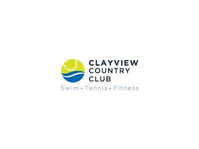 Clay View Tennis Logo Designsclay View Tennis Logo Designsclay View Tennis Logo Design Sports Logo Design Logo Design Inspiration Sports Basketball Logo Design