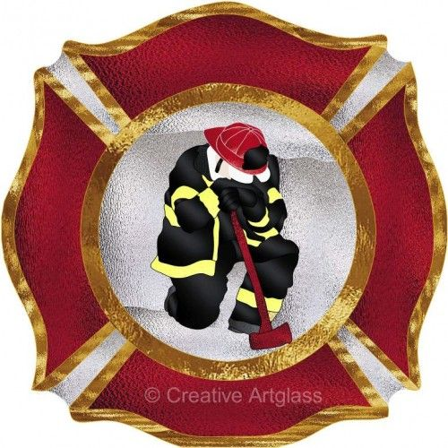 Firefighter Maltese Cross: Tattoo Ideas, Firefighter Stuff, Stained Glass Panels, Stained Glass Ideas, Firefighter Maltese, Glass Firefighter, Fire Department