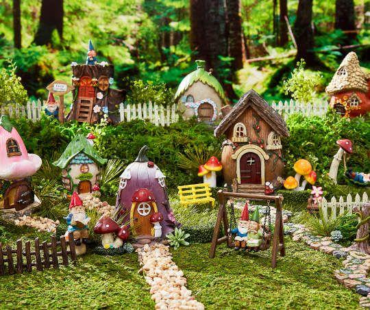 Fairy Garden Flower 5 Piece Furniture Accessories Set Large