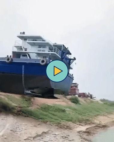 Como colocar o navio no rio