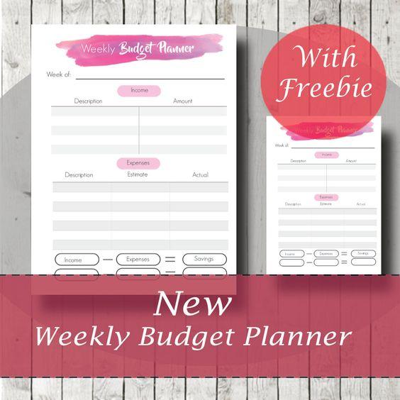 Budget Planner, Weekly Budget Planner, Payment Checklist, Bill Tracker, Debt…