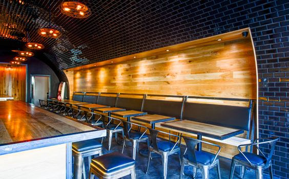 New Hollywood restaurant and bar on Cahuenga. Design/built by Spacecraft Design Group. Photo credits Urban Daddy.