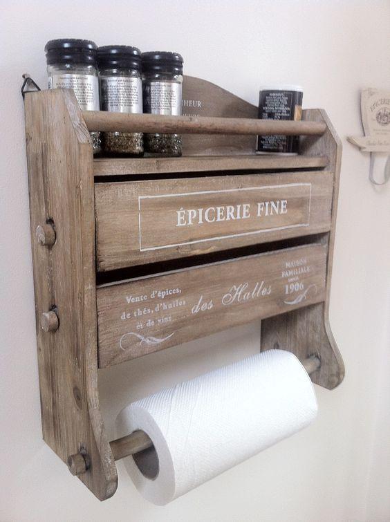 Wooden Kitchen Roll Tin Foil Dispenser Want From