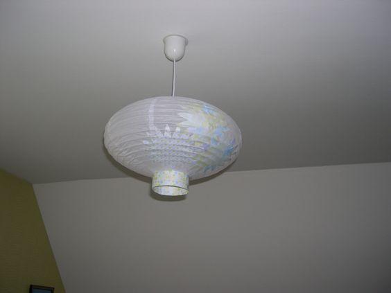 lanterne de papier décorée