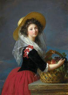 Marie-Gabrielle de Sinéty, the Duchesse de Gramont-Caderousse by Elizabeth Vigee Le Brun.  Nelson-Atkins Museum: Vigee Lebrun, Brown