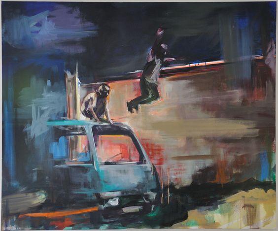 Mischief - Peinture,  120x100x2 cm ©2015 par Marleen Hannon -