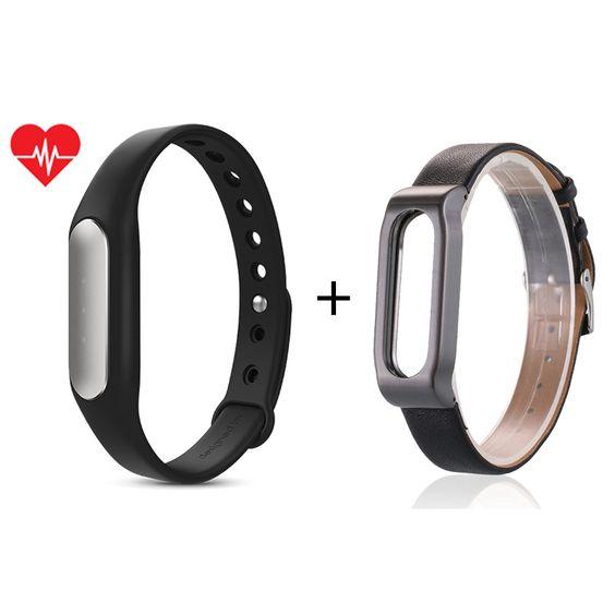 Original Xiaomi Mi Band 1S Bracelet Heart Rate Sensor Smart Wristband Miband Sport Fitness Tracker