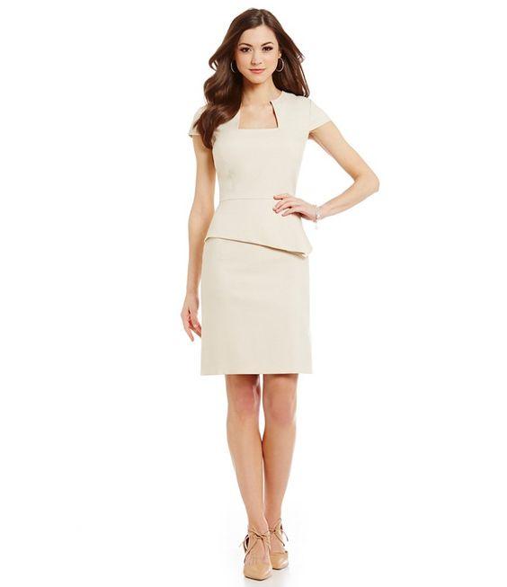 Antonio Melani Gwen Peplum Twill Dress