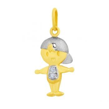 pingente menino com diamante