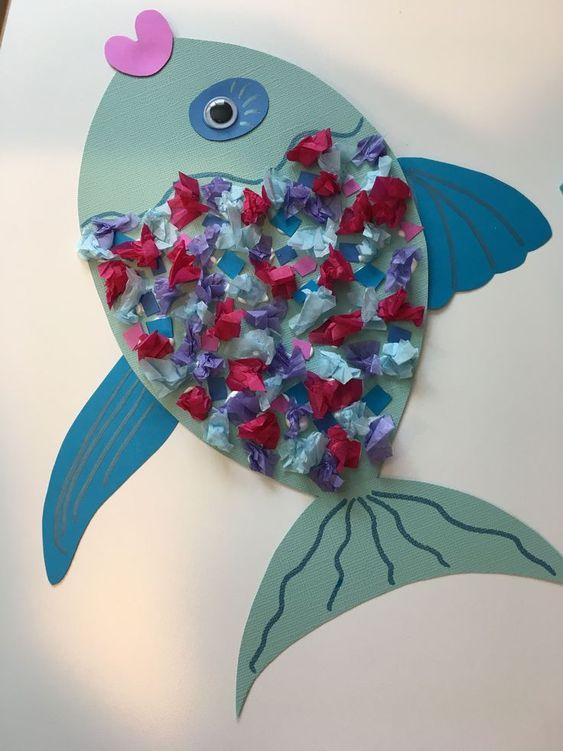 Rainbow Fish Kids Craft #kidscrafts ##craft #kidscrafts #rainbow