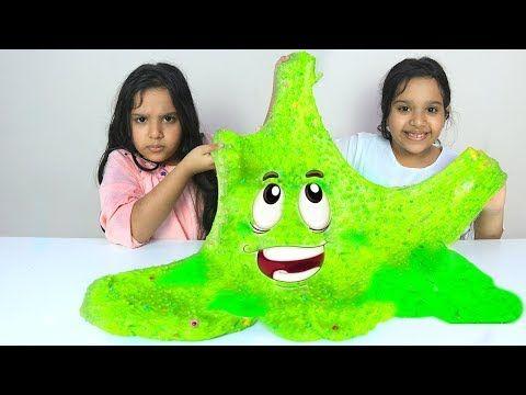 شفا و توأمتها يصنعون سلايم عملاق Shfa And Her Twin Make A Giant Slime Youtube Baby Dress Design Cafe Design Bridal Jewellery Indian
