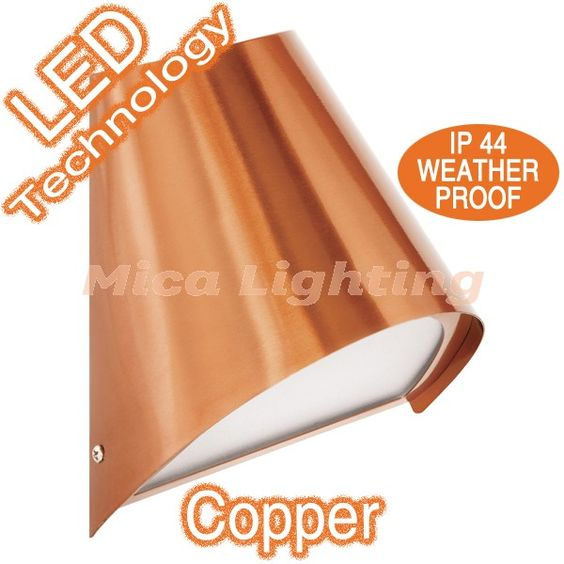 $70 Kingston LED Copper Outdoor Wall Lamp | Modern Outdoor Lights Exterior Lighting