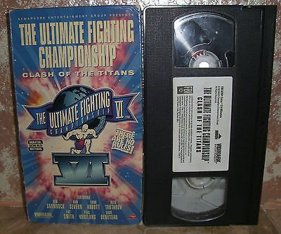 UFC The Ultimate Fighting Championship VI Clash of The Titans Vhs Video With Box