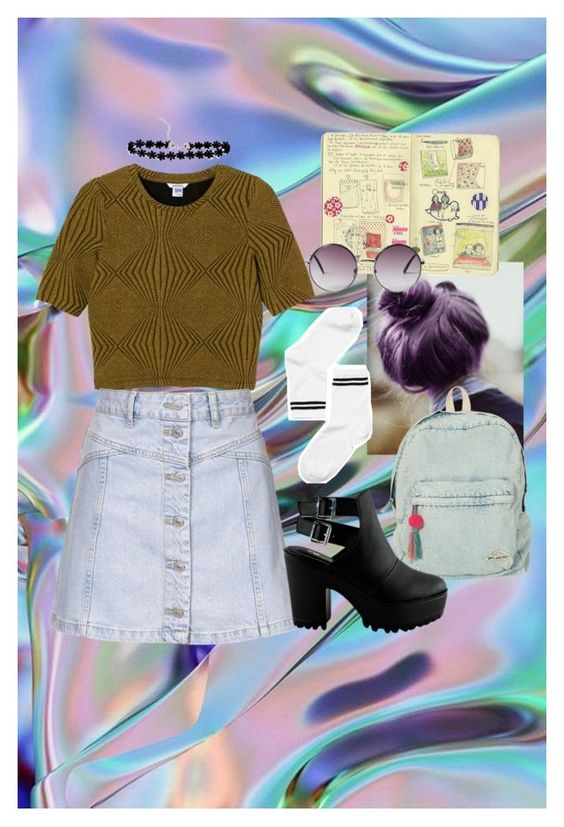 """""""Untitled #41"""" by stelpafodursd on Polyvore featuring Monki, Topshop and Billabong"""