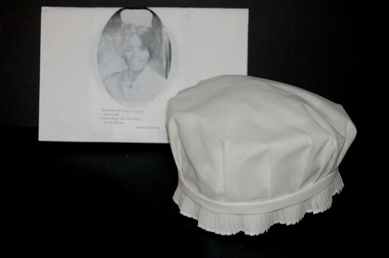 Cap from Church Home & Hospital School of Nursing, Baltimore, MD. Circa 1973.