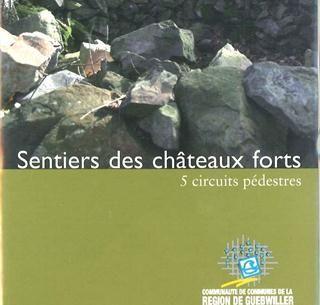 Topo guide de randonnée 'sentiers de châteaux forts'