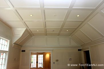 Coffered Ceilings and Beams - traditional - bedroom - Trim Team NJ